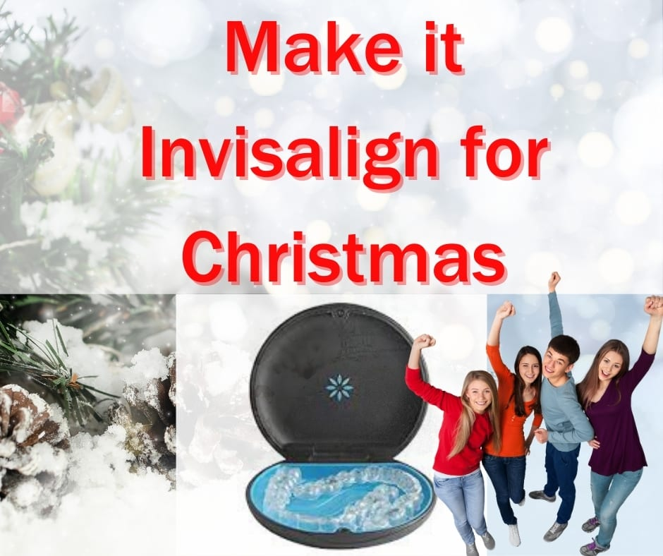 teenagers cheer Invisalign for Christmas